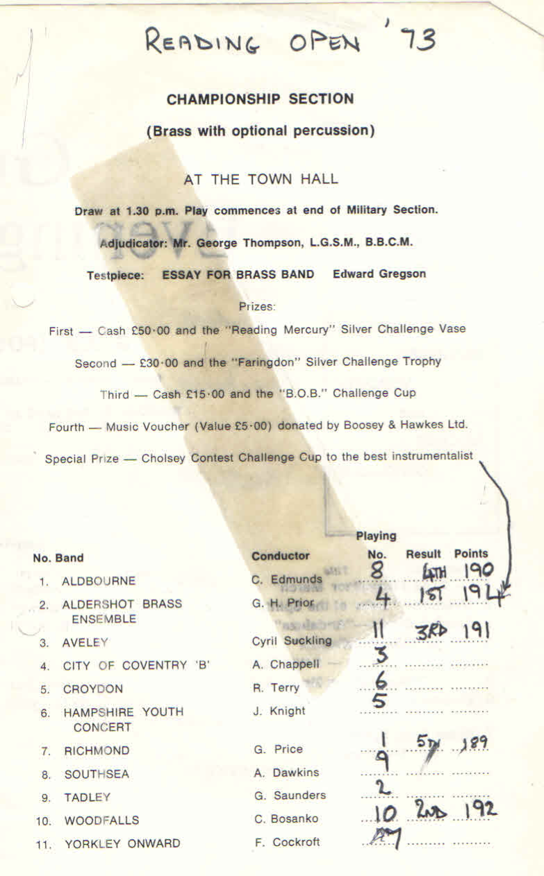 essay for brass band edward gregson